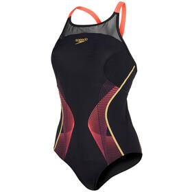 speedo Endurance+ Fit Pinnacle Svømmedragt Damer rød/sort